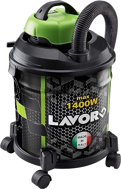 LAVOR JOKER 1400 S Aspiratore Solidi e Liquidi, Capacità Vano Raccolta 20 l, Serbatoio in Metallo, 18 kPa, 1400 Watt max, Tubo Flex 1,5 m, 2 Tubi