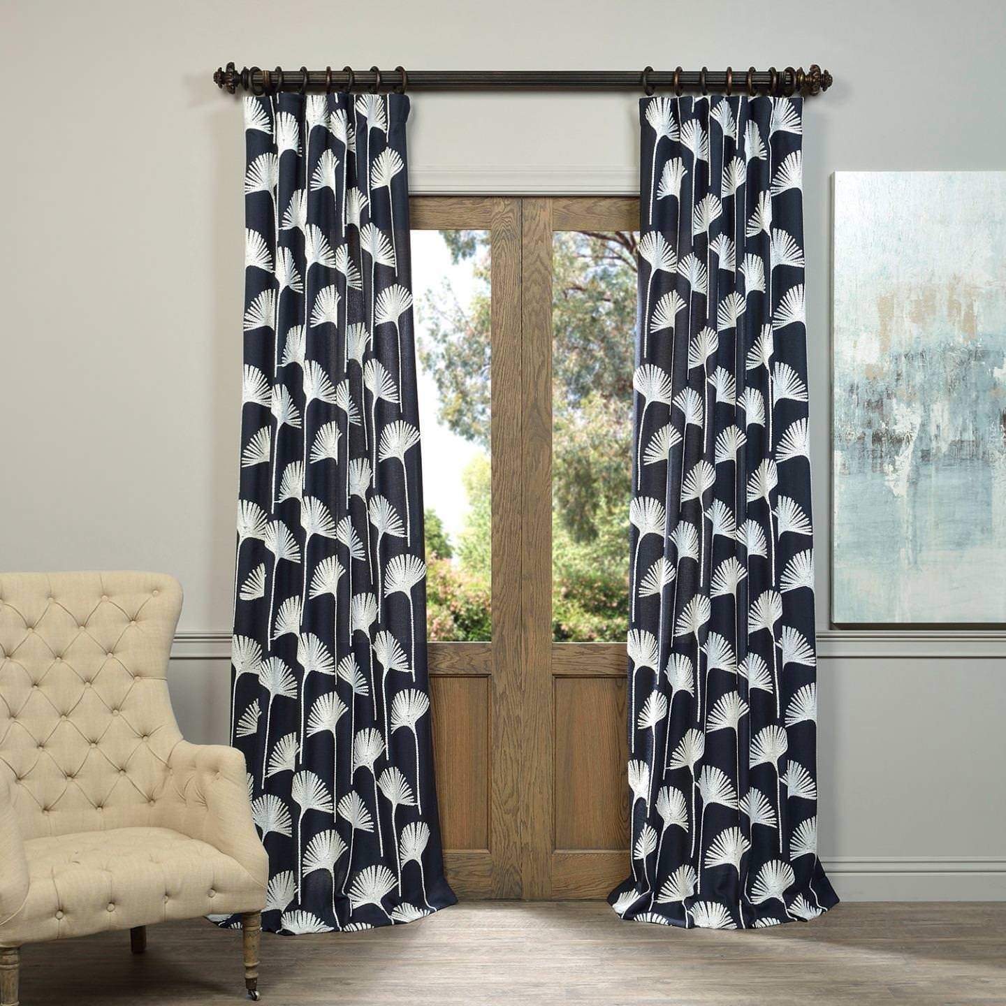 Navy Blue And White Curtains: Amazon.com