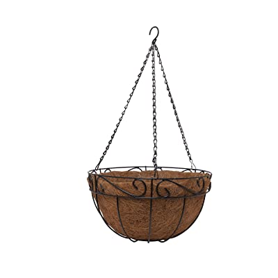 useful. 4pk Hanging Wire Planter Basket with Coco Coir Liner - Four Pack of Hanging Planter with Coco Coir Liner for Flowers and Other Live Plants: Kitchen & Dining