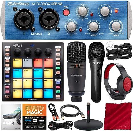 Presonus Audiobox 96 Ultimate Bundle Recording-Set Mikrofonständer