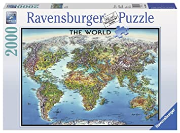 Ravensburger world map jigsaw puzzle 2000 piece amazon ravensburger world map jigsaw puzzle 2000 piece gumiabroncs Image collections
