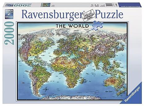 Ravensburger World Map Jigsaw Puzzle. Ravensburger World Map Jigsaw Puzzle  2000 Piece Amazon com
