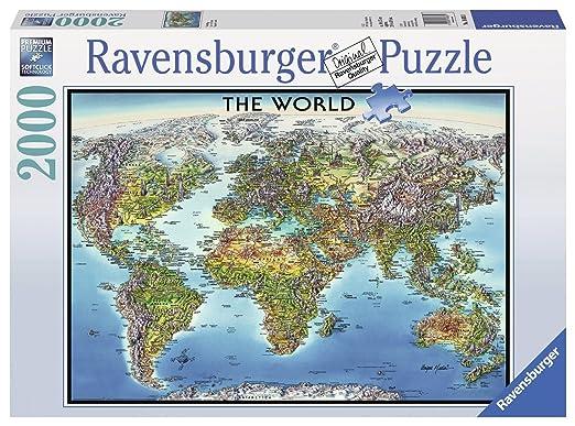 6 opinioni per Ravensburger 16683- World Map, Puzzle 2000 Pezzi