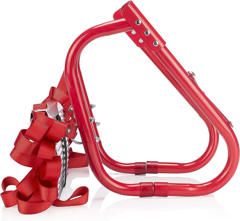 Smartwares 10.015.18, Escalera de emergencia de Incendios de 4,5 metros Incluye Ganchos, capacidad de 450 kg, BBVL, Rojo: Amazon.es: Bricolaje y herramientas