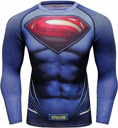 Oferta amazon: Cody Lundin Super héroe Camiseta Impresa para los Hombres Fitness Camiseta de Manga Larga de los Hombres Talla M