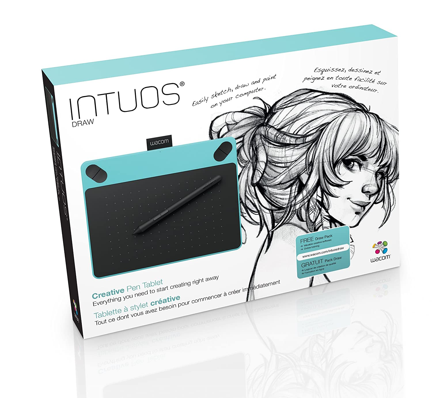 Buy Wacom Intuos Draw Creative Pen Ctl 490 Bo Tablet 4100 K0 Cx Mint Blue Online At Low Prices In India Reviews Ratings