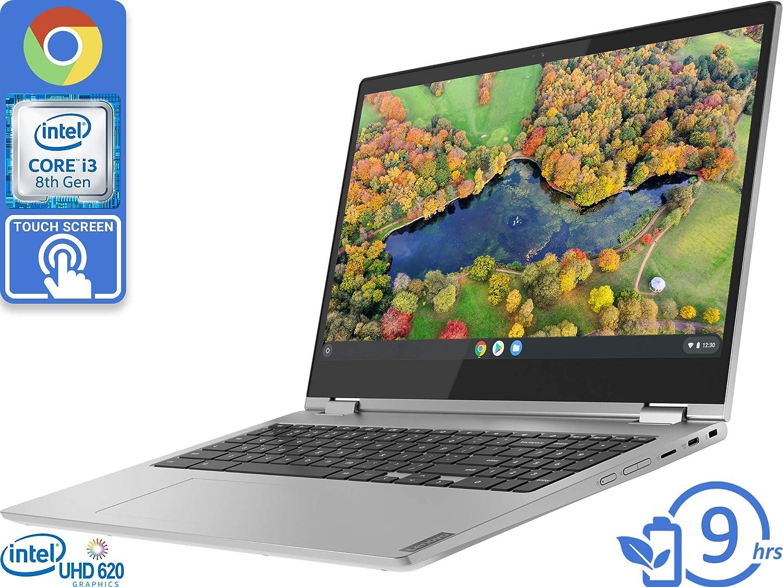 "Lenovo C340 (81T9000VUS) Chromebook, 15.6"" FHD Touch Display, Intel Core i3-8130U Upto 3.4GHz, 4GB RAM, 64GB eMMC, Wi-Fi, Bluetooth, Chrome OS"