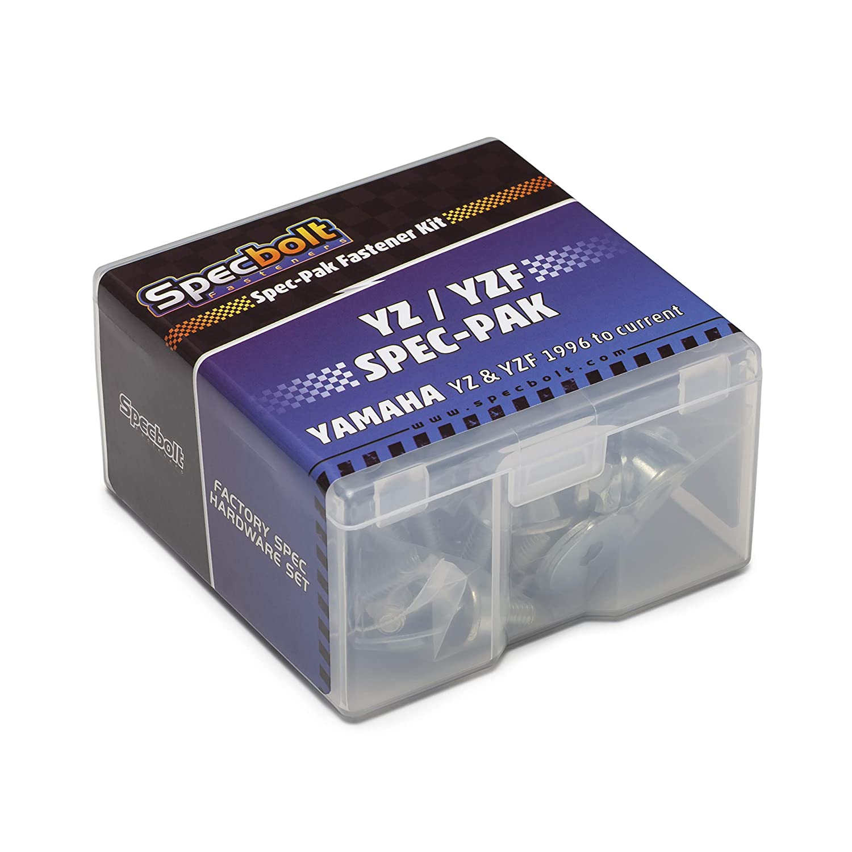 Specbolt Fasteners Yamaha Spec-Pak YZ YZF 80 85 125 250 450 465 490 model series Factory Match Fastener Kit 1996 - current