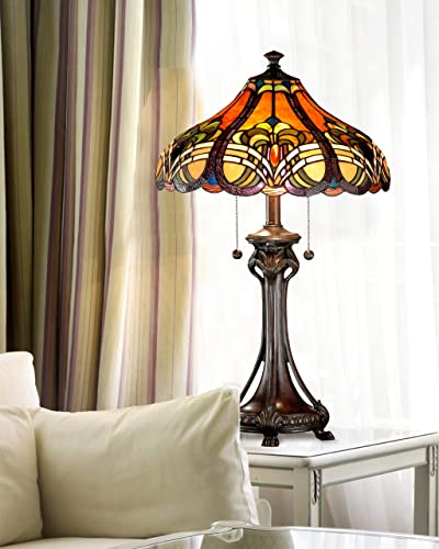 Dale Tiffany TT101033 Bellas Table Lamp, 16 x 16 x 25.5 , Bronze