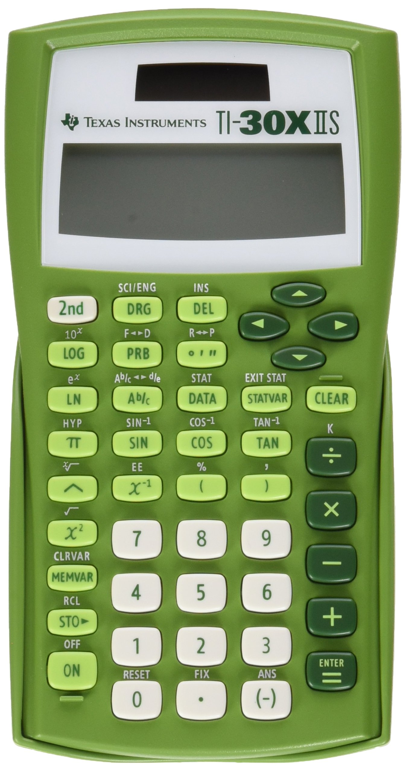 Texas Instruments TI-30X IIS 2-Line Scientific Calculator, Lime Green