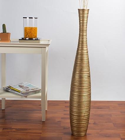 Amazon Leewadee Tall Floor Vase 36 Inches Wood Gold Home