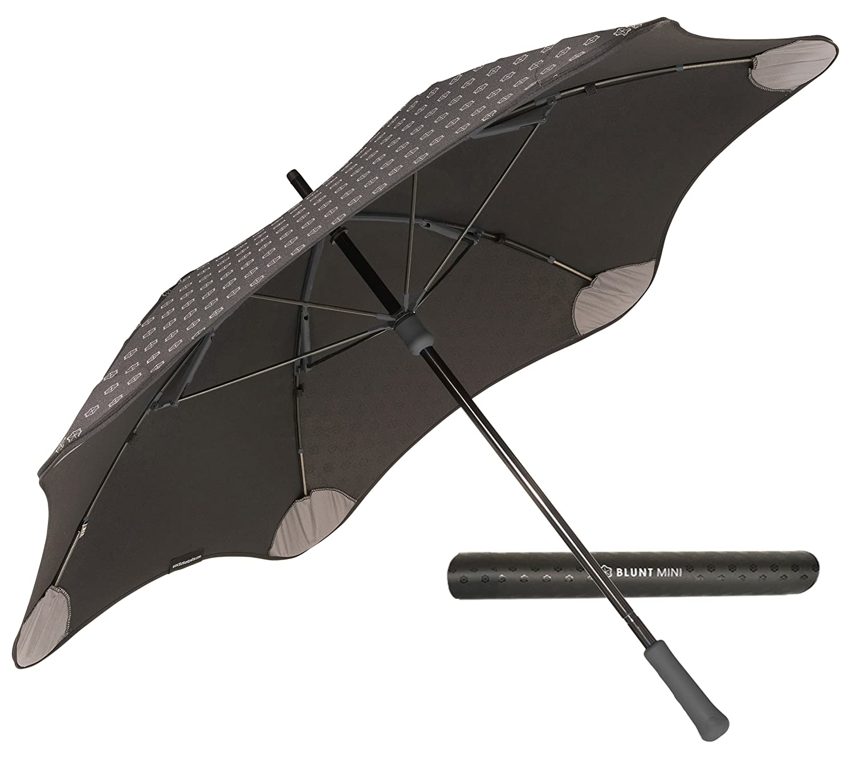 【正規輸入品】 ブラント ミニ プラス 全4色 長傘 手開き ブラック 6本骨 53cm グラスファイバー骨 耐風傘 A1454-10 B009MMSKGIブラック