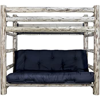 Amazon Com Metal And Wood Twin Futon Bunk Bed Kitchen