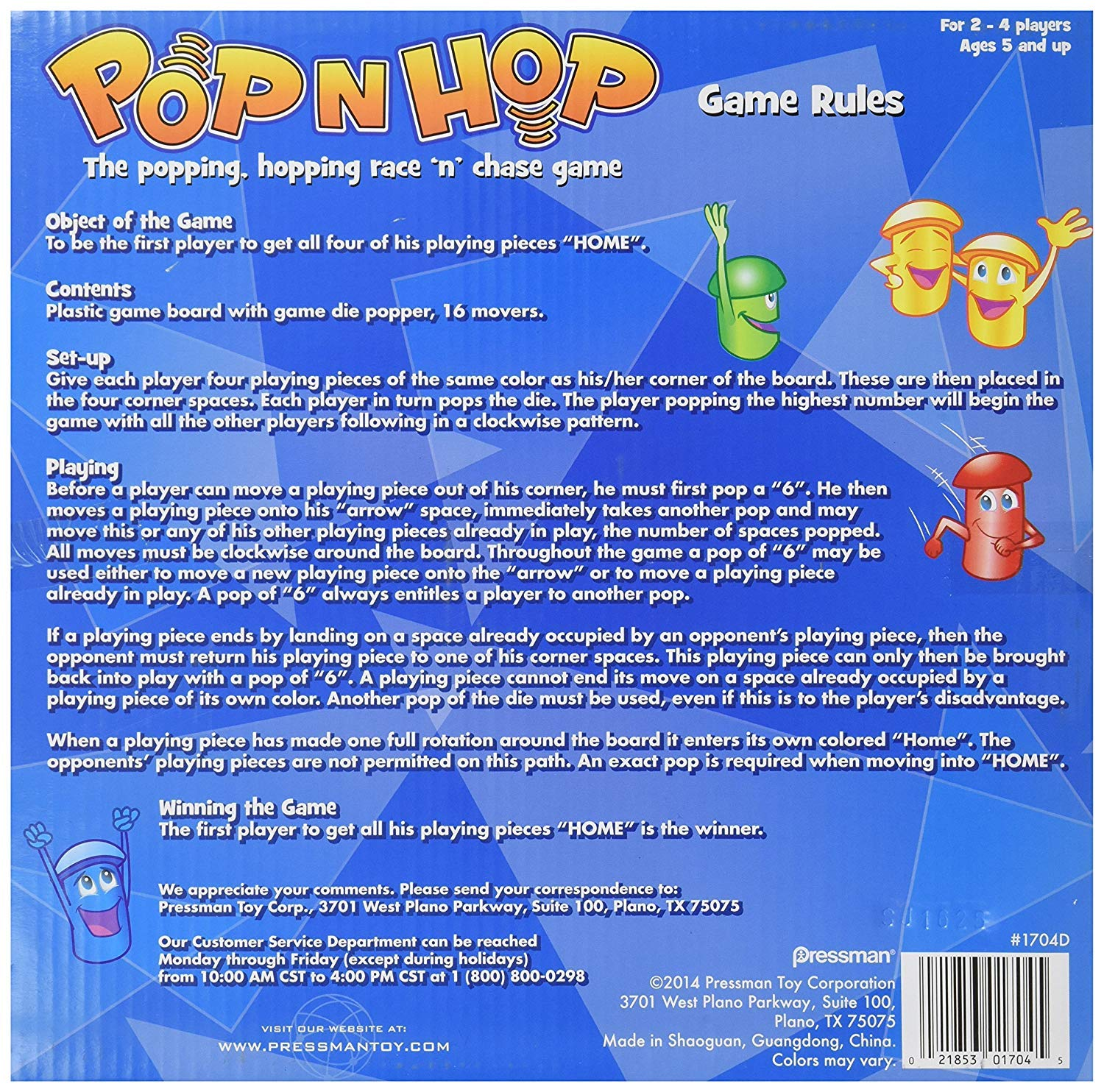 2 Pack Games-Four in a Row and Pop N Hop Anker Play
