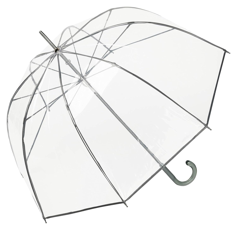 VON LILIENFELD® Paraguas Mujer Hombres Campana Transparente Translúcido Melina Azul: Amazon.es: Equipaje