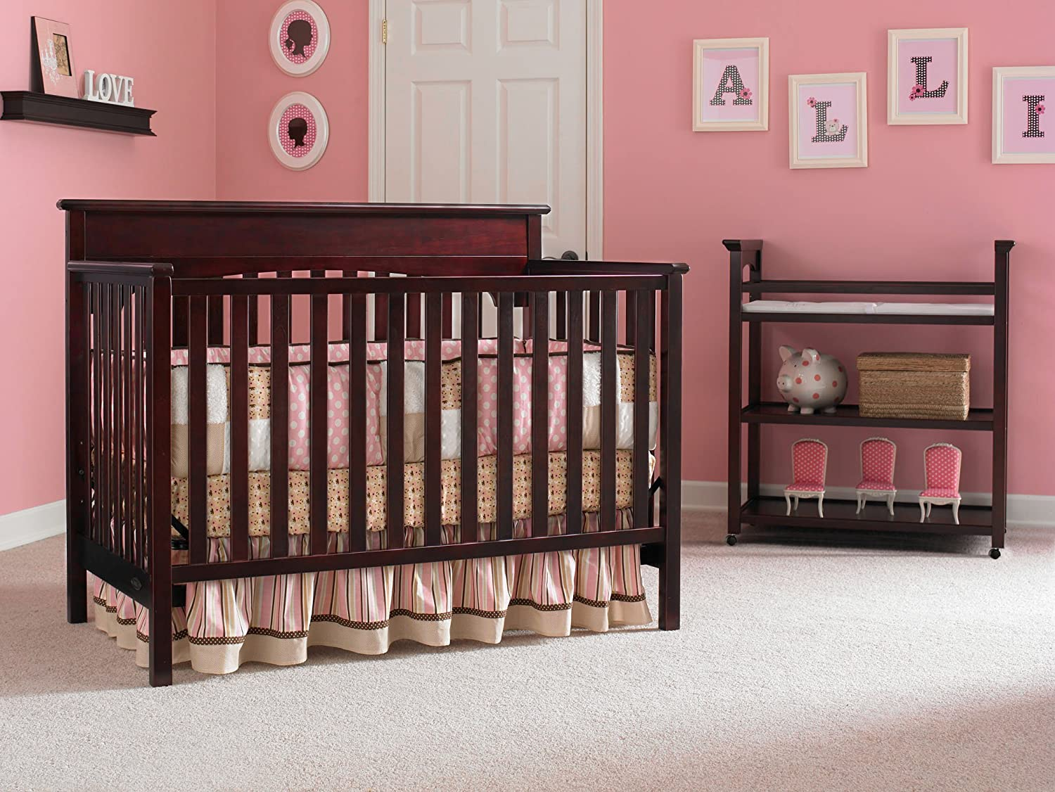 convertible baby signature cribs com graco lauren crib in dp black amazon