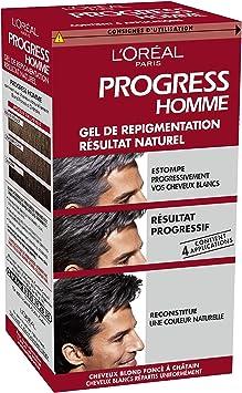 Repigmentación LOréal Paris Hombres progreso natural de gel para el cabello Color Blanco