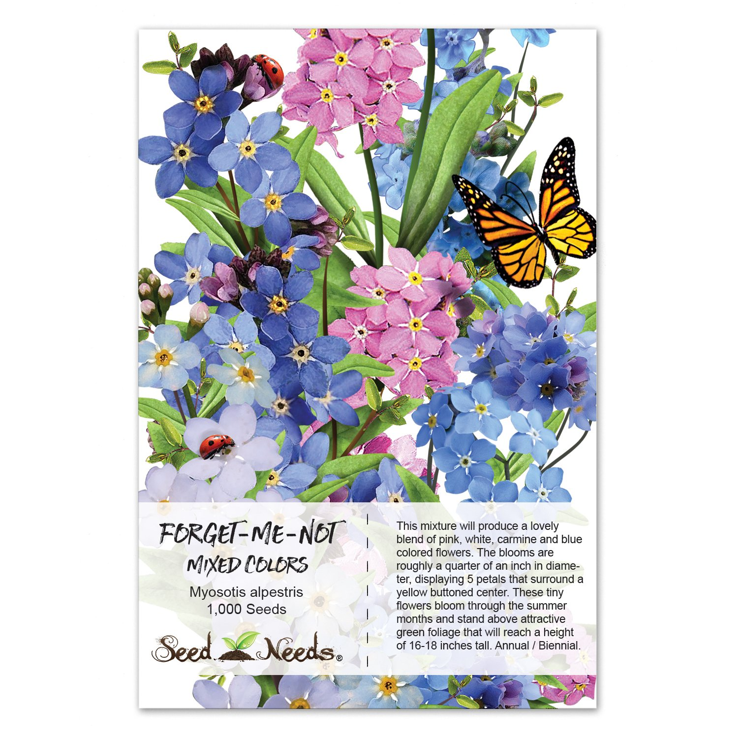Amazon Package Of 1 000 Seeds Forget Me Not Mixed Colors