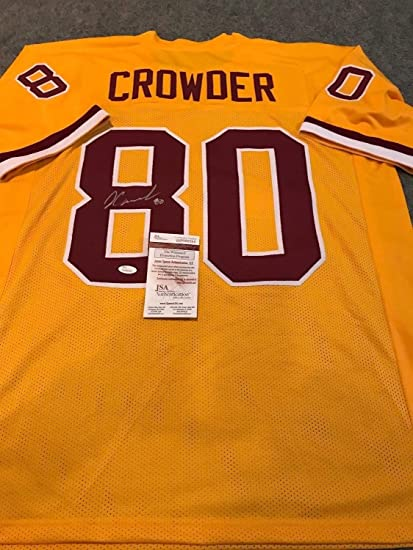 cb7fd6480 Jamison Crowder Autographed Signed Washington Redskins Jersey - JSA  Authentic