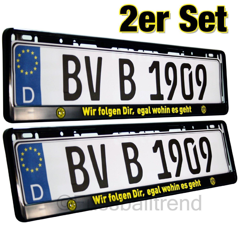Borussia Dortmund Nummernschildhalter / Kennzeichenverstärker ...
