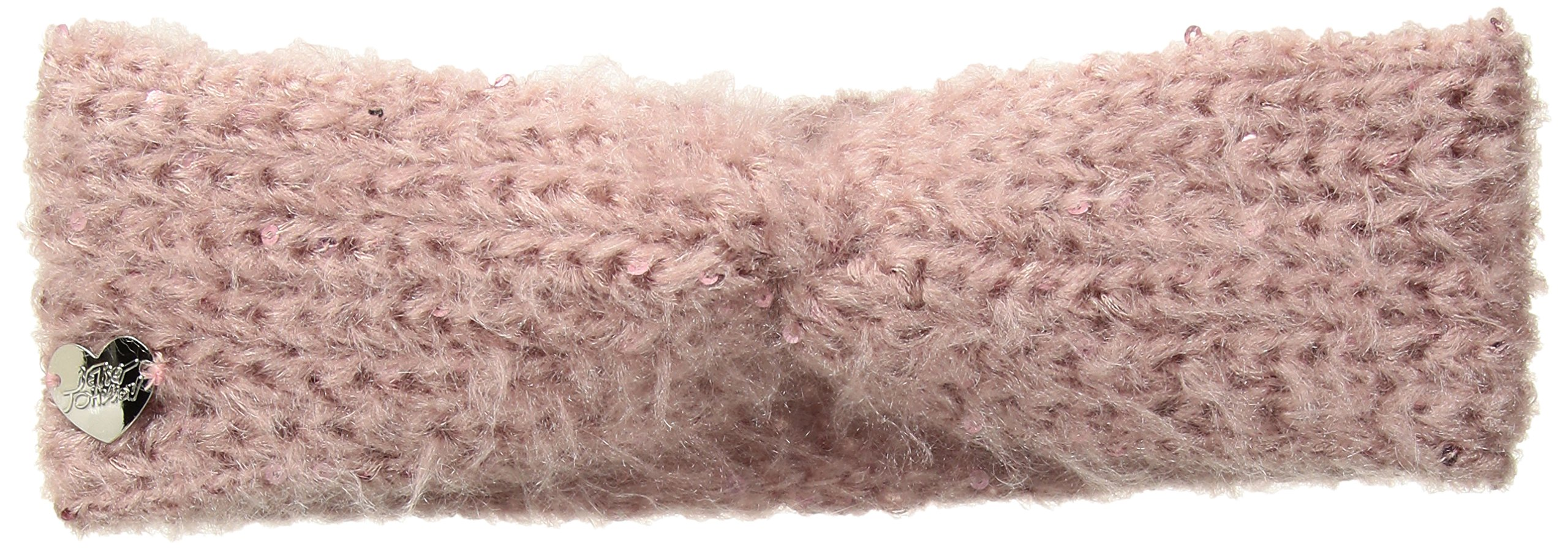 Betsey Johnson Women's Fuzzy Wuzzy Headband, Blush, ONE SIZE