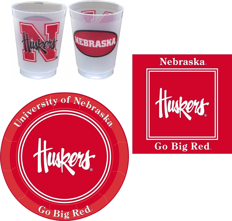 Westrick Nebraska Cornhuskers Party Supplies - 81 Pieces (Serves 24)