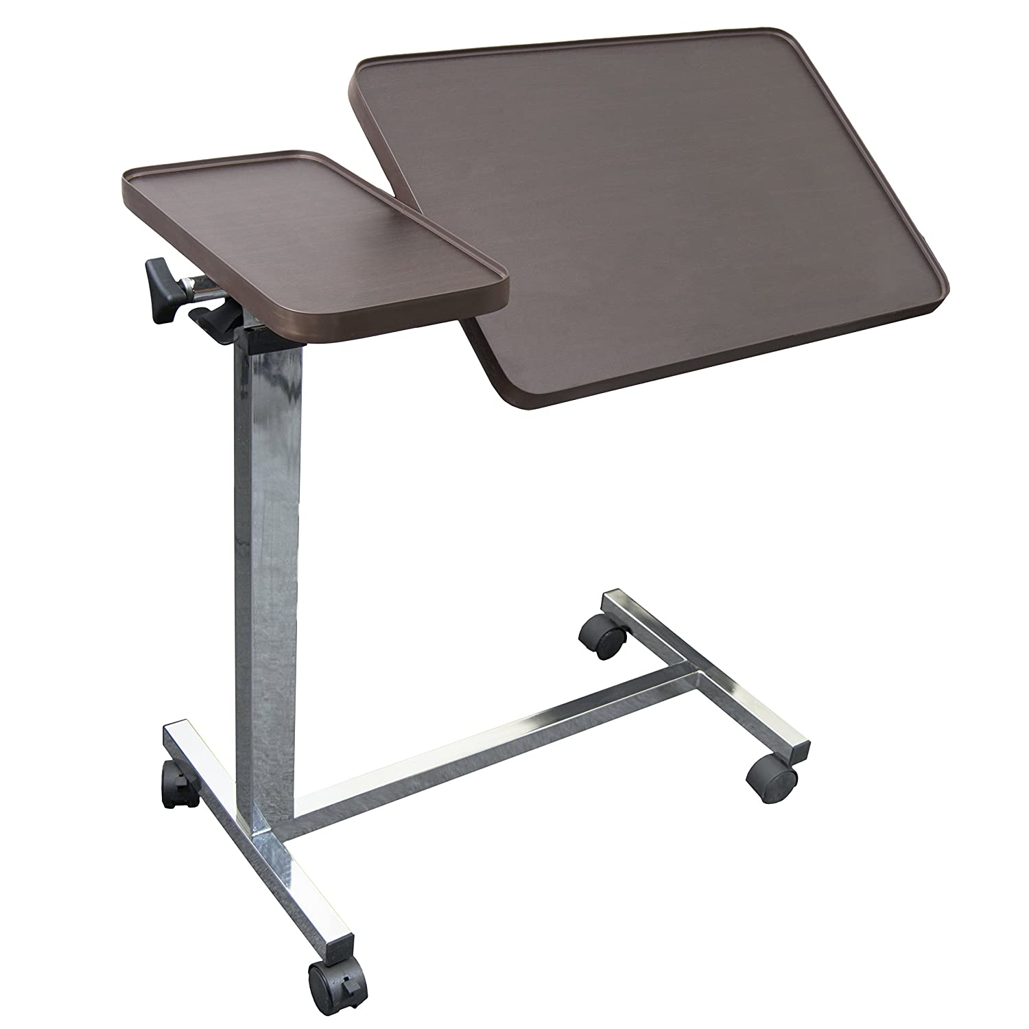 Overbed table with storage - Amazon Com Eva Medical Deluxe Tiltable Overbed Table With One Touch Height Adjustment Feature Health Personal Care
