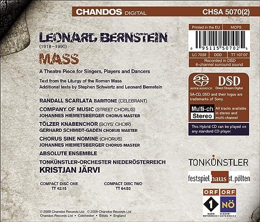 Mass Gloria Tibi Bernstein choral score tenor 2-part treble voices piano SS