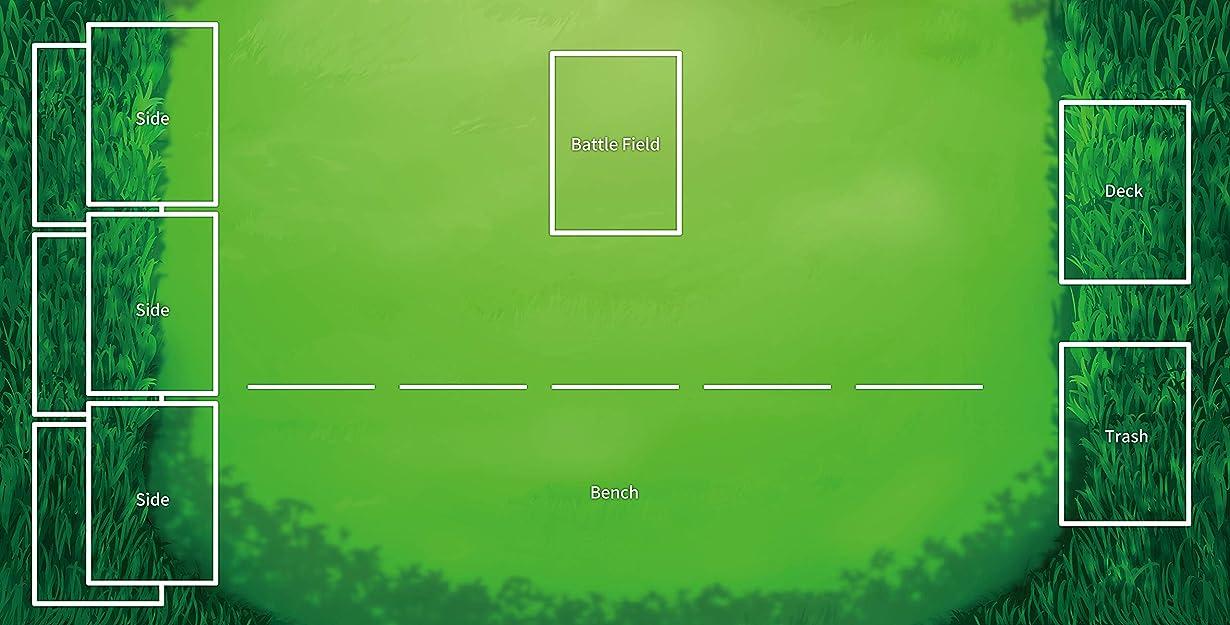 誘う関係する火星ポケモンカードゲーム プレイマット プレイマット テーブルマット サイズ 60X35 cm マウスパッド プレイマット 遊戯王 ポケモン マジック ザ?ギャザリング(Pokemon807241)