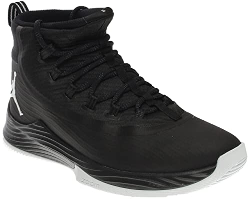 ed33369d12120 Image Unavailable. Image not available for. Color  Nike Men s JR Ultra Fly  Basketball Shoe Black Anthracite White 8.5