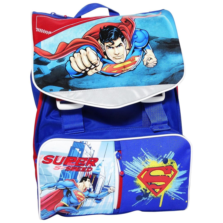 Dc Comics Superman G Zaino Estensibile Scuola Elementare Medie con Gadget in Omaggio