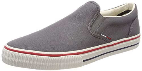 44ff99929040b7 Tommy Jeans Men s Textile Slip on Low-Top Sneakers White  Amazon.co ...