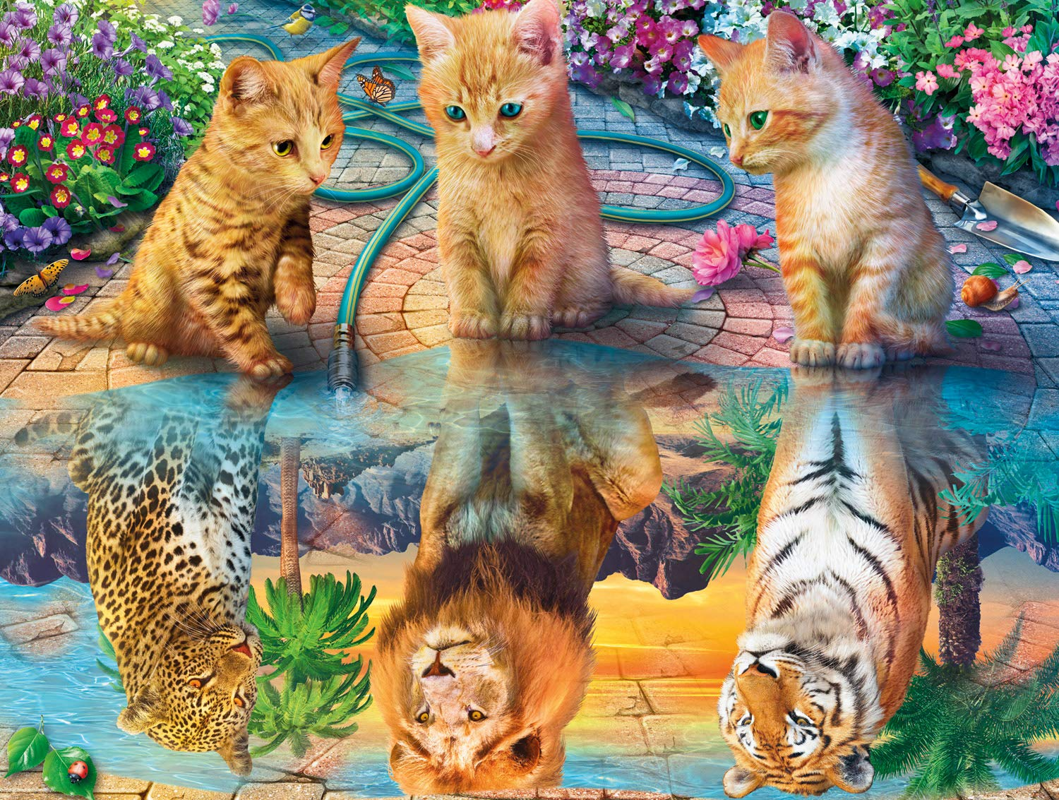 Buffalo Games - Cats Collection - Kitten Dreams - 750 Piece Jigsaw Puzzle