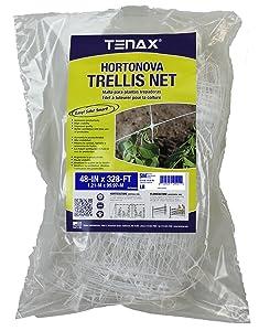 "Tenax 084067 100521793 Hortonova SM Plant Trellis Net, 48"" x 328' White"
