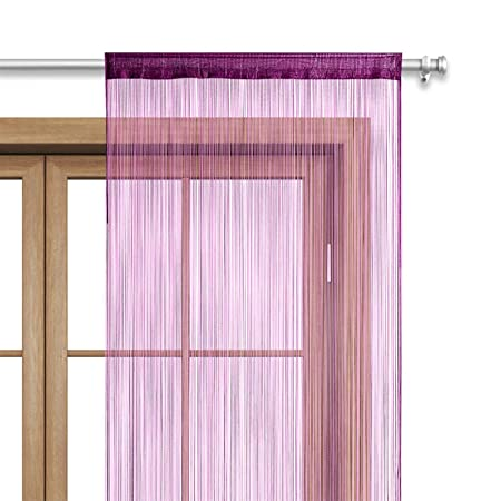 e9d0dc025f1 wometo Spaghetti String Curtains 35x96inch