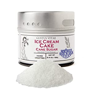 Gustus Vitae - Ice Cream Cake Cane Sugar - Gourmet Replacement For Plain Processed Sugar - Artisanal Infused Sugar - All Natural - Small Batch - #91
