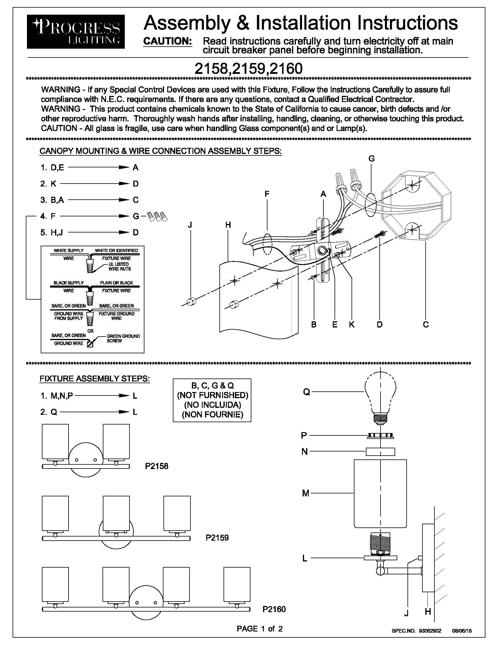 Progress Lighting P2159-09 Contemporary/Soft 3-100W Med Bath Bracket, Brushed Nickel by Progress Lighting (Image #3)