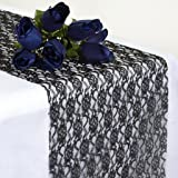 Amazoncom 1 X Black Lace Table Runner Vintage Wedding Decor 12 x