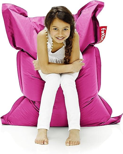 Fun!ture Cerise Pink Quilted Water Resistant Rectangular Bean Bag