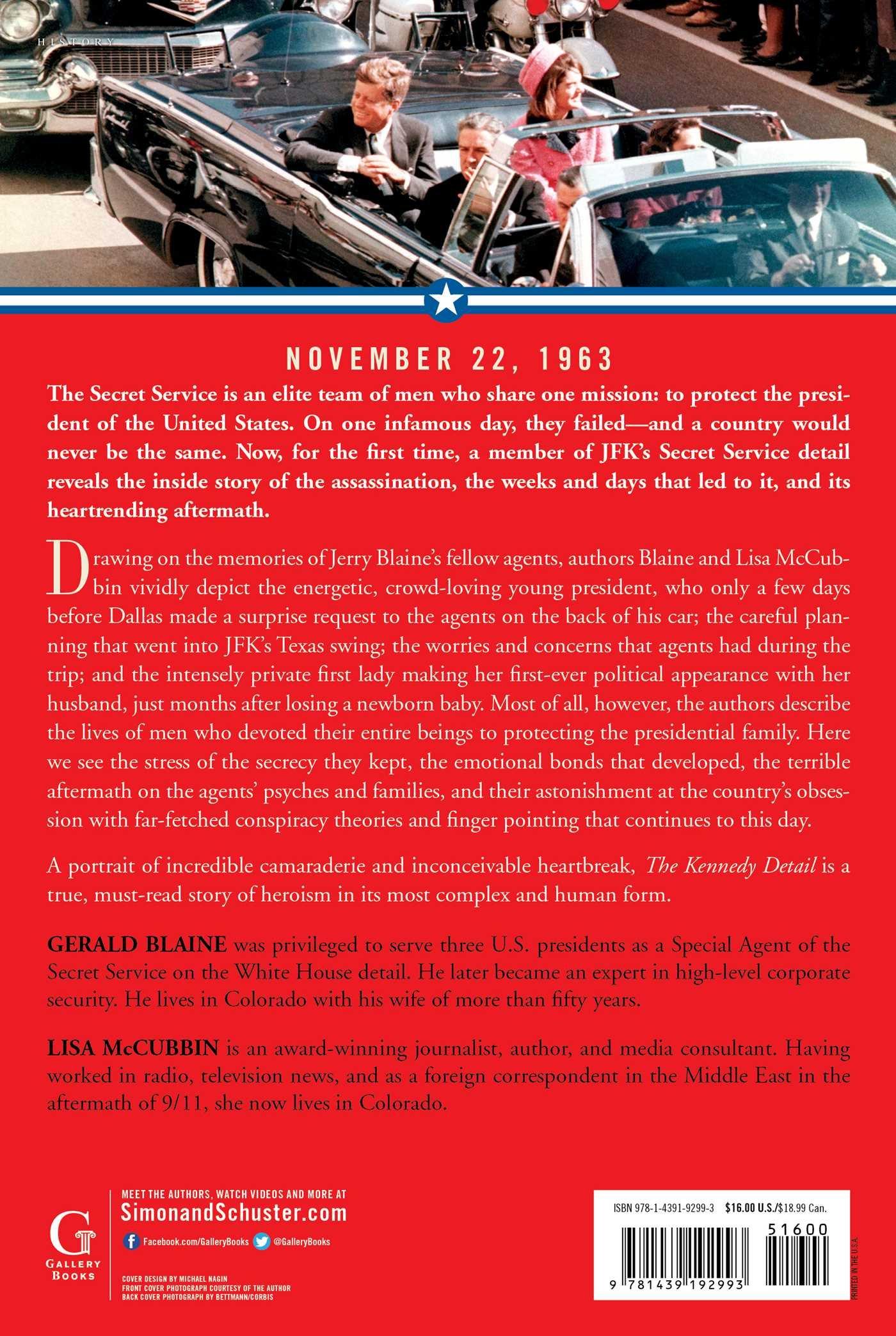 Amazon: The Kennedy Detail: Jfk's Secret Service Agents Break Their  Silence (9781439192993): Gerald Blaine, Lisa Mccubbin, Clint Hill: Books