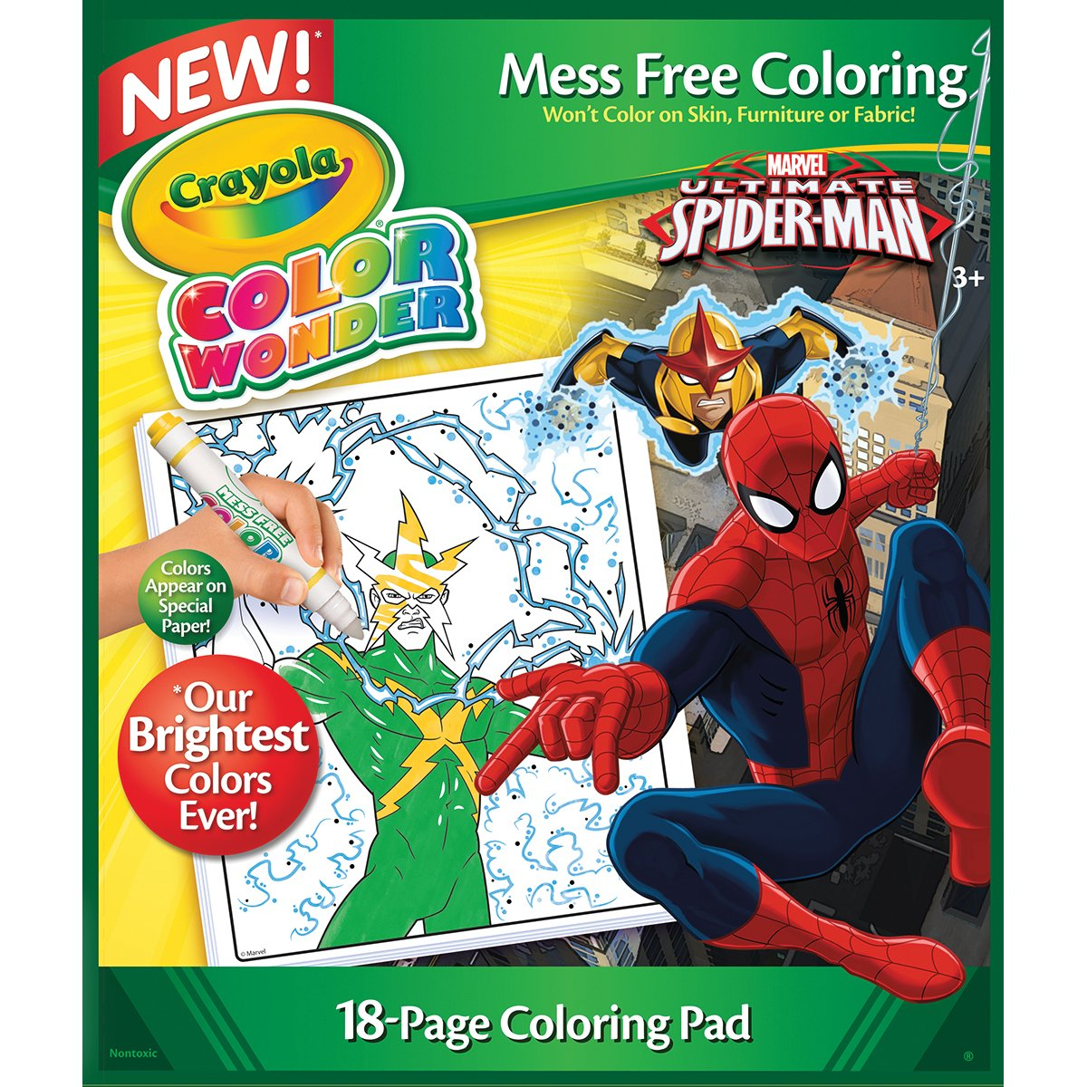 Crayola Color Wonder Coloring Pad-Spiderman: Amazon.co.uk: Toys ...