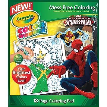 Crayola Color Wonder Coloring Pad-Spiderman: Amazon.co.uk: Toys & Games