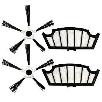 Menalux MRK 04 - Filtros y cepillos laterales para robot aspirador Hoover: Amazon.es: Hogar