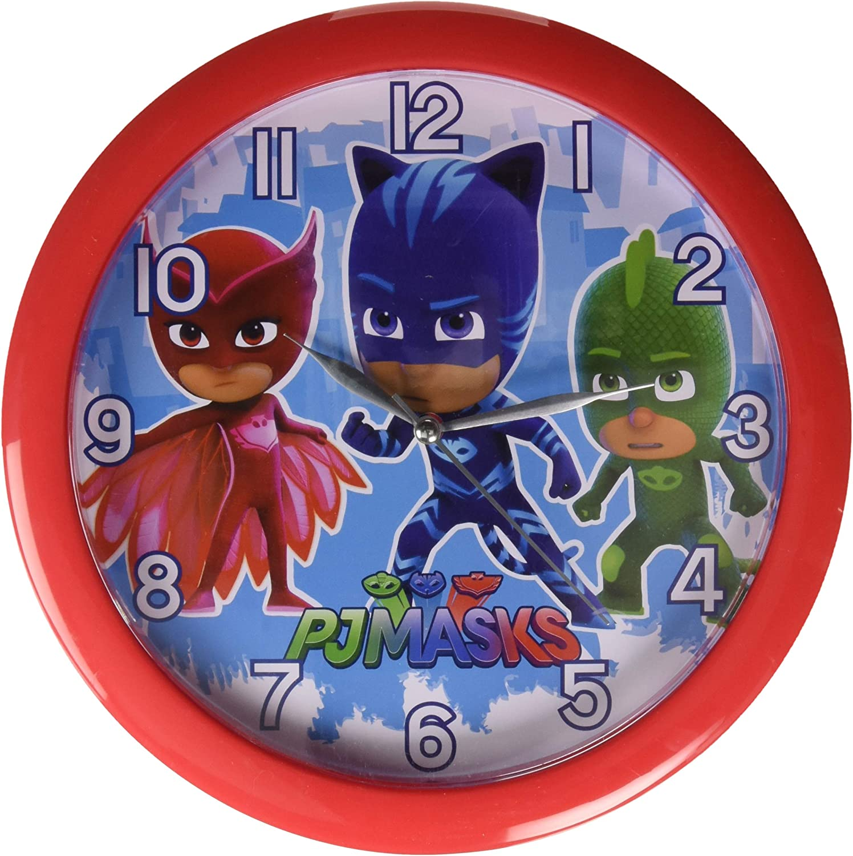 "4SGM PJ Masks 10"" Round Wall Clock Standard, Multicolor"