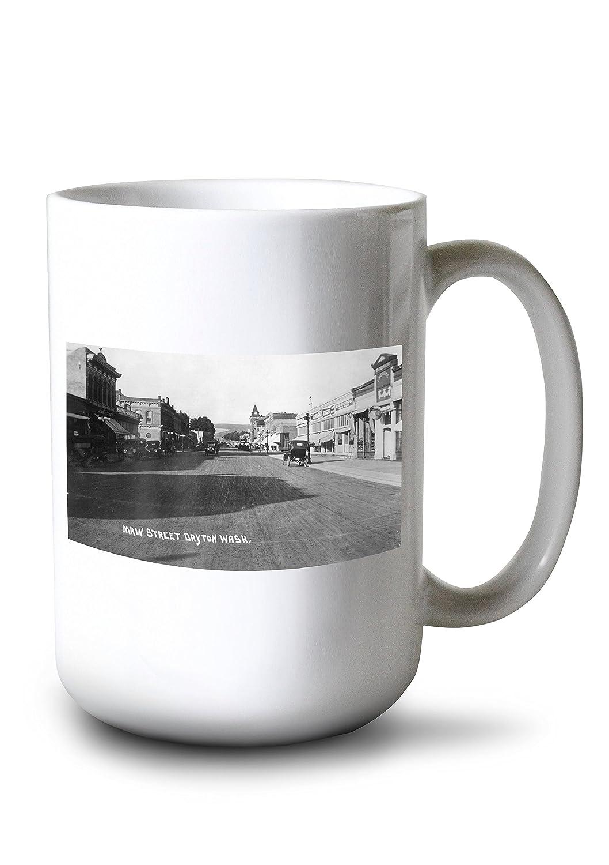 Dayton、ワシントン – メインストリートのビュー 15oz Mug LANT-3P-15OZ-WHT-11080   B077RQ9B8Y