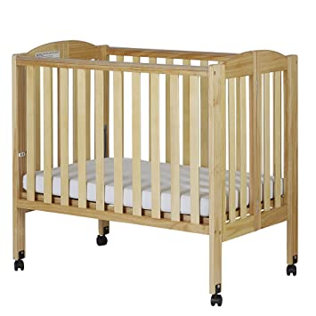 Amazon.com : Dream On Me 2 In 1 Portable Folding Stationary Side Crib,  Natural : Baby