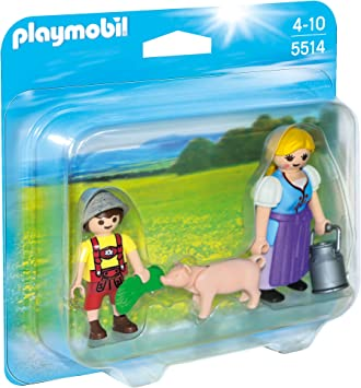 PLAYMOBIL Duo Pack - Campesina y niño, Figuras (5514): Amazon.es ...