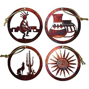 Rustic Metal Ornament Set