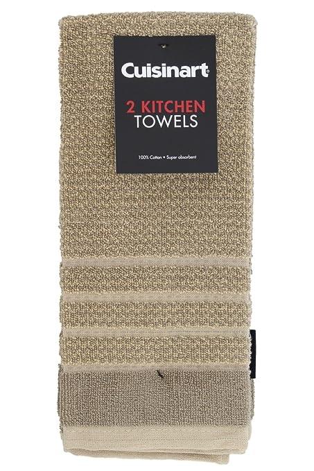 Cuisinart 100% algodón Terry toalla de cocina Super absorbente, Pincheck diseño,, 2