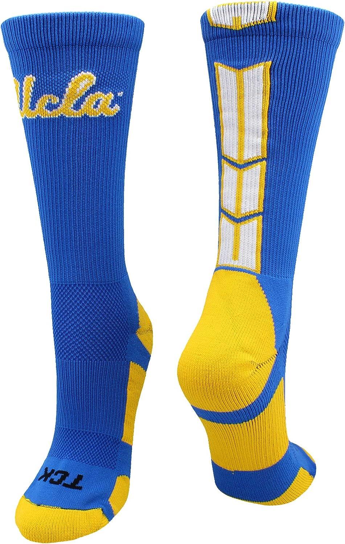 TCK UCLA Bruins Socks Basic Crew White Socks